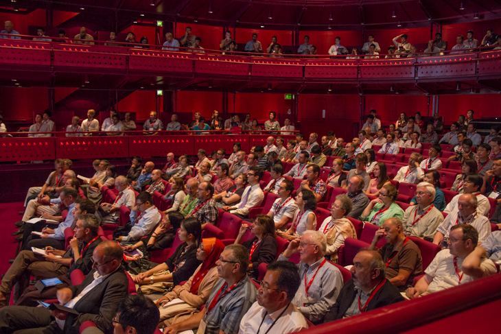Audience in the Quays Theatre during the plenaries