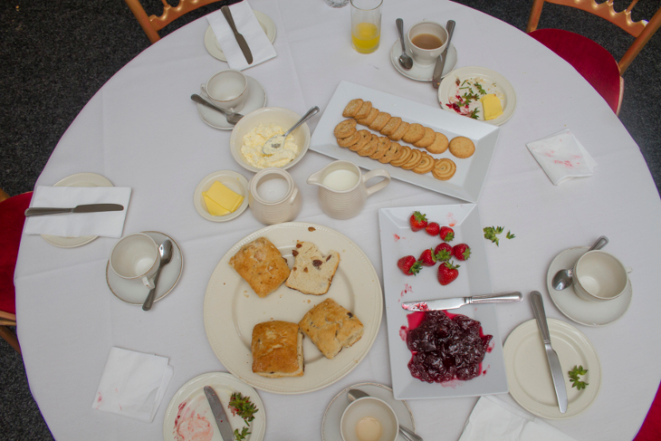 Cream tea at Capesthorne Hall