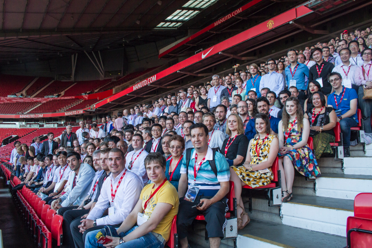 MH2014 delegates on the terraces at Old Trafford