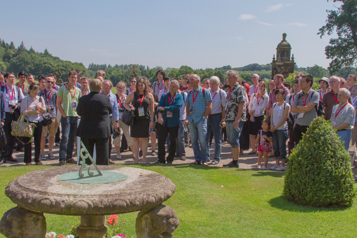 MH2014 delegates receiving introduction to Capesthorne Hall in Cheshire