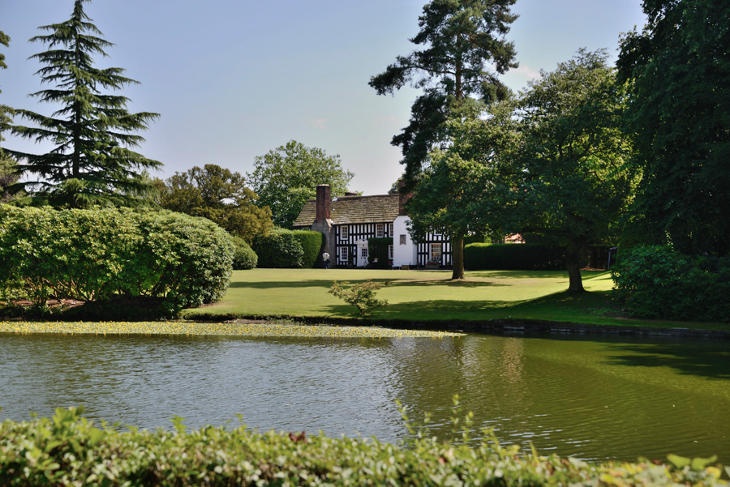 Lake at Gawsworth Hall in Cheshire